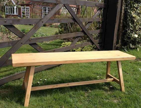 Bespoke Furniture makers Norfolk - Oak Bench